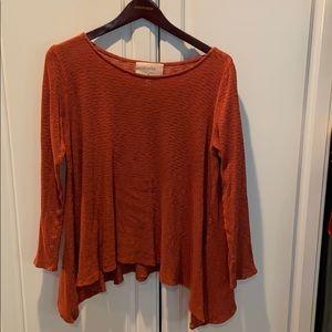 """Puella """"Melette"""" Terra-cotta slub tunic sweater"""